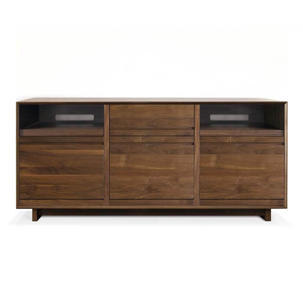 AERO LP Storage Console Walnut
