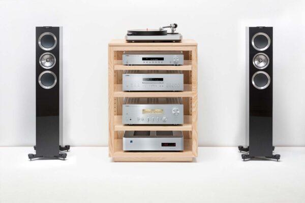 Solid Wood Audio Rack Yamaha KEF