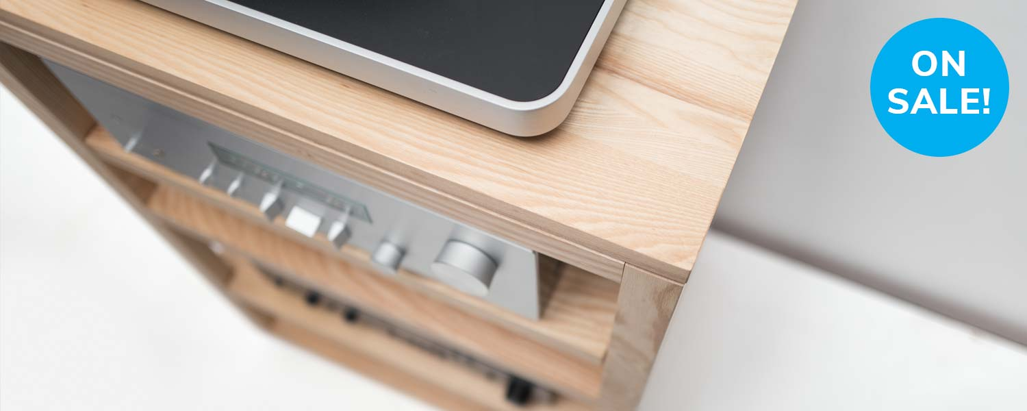 Dovetail Solid Wood Audio Rack
