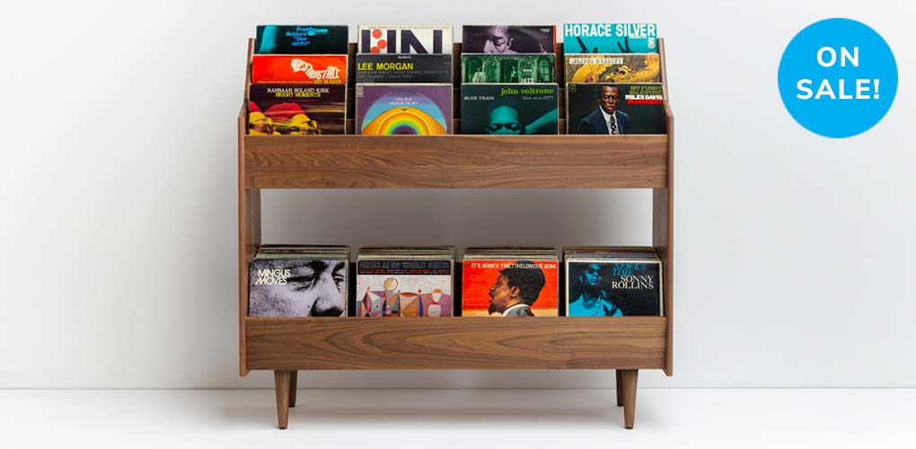 Luxe Mid-Century Modern LP Cabinet