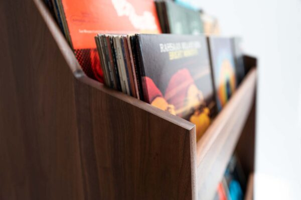 Mid-Century Record Stand Detail