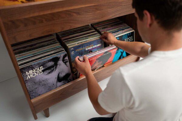 Mid-Century Record Storage