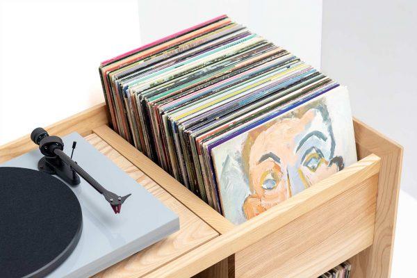 Unison Record Player Stand Album Bin