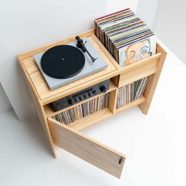 Unison Record Player Stand High 3 Quarter