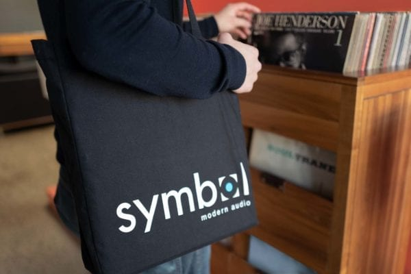 Vinyl Record Tote Bag Arm