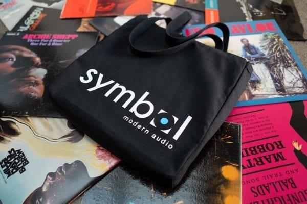 Vinyl Record Tote Bag Floor